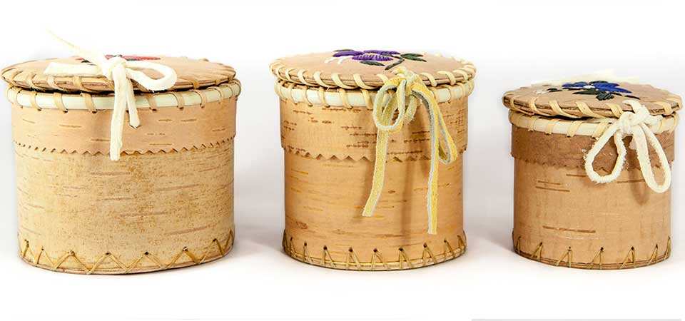 Hand crafts birch bark