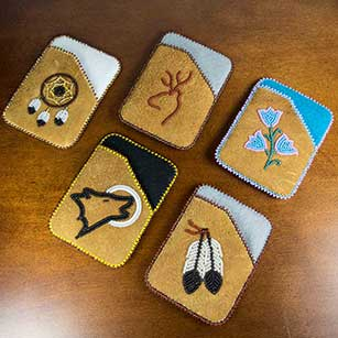 Debit card holders acho dene native crafts for Native american handmade crafts