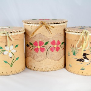 Large Round Birch Baskets