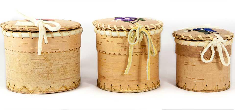 Hand crafts birch bark